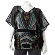 Apt. 9 Printed Mesh Top Set - Women's Plus