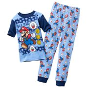 Super Mario Mario Stripe Pajama Set - Boys 4-10