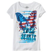 SO Butterfly Flag Tee - Girls 7-16