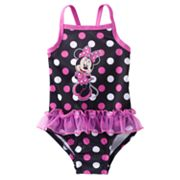 Disney Mickey Mouse and Friends Minnie Mouse One-Piece Swimsuit - Toddler