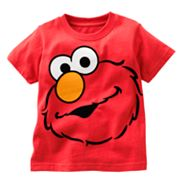 Elmo Flocked Tee - Toddler