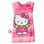 Hello Kitty Striped Nightgown - Girls