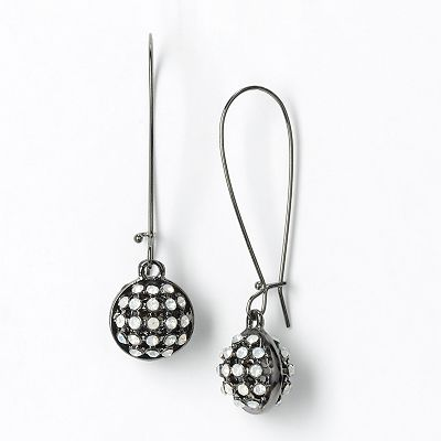 Simply Vera Vera Wang Jet Simulated Crystal Drop Earrings