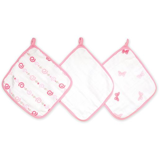 aden + anais 3-pk. Girls 'N Swirls Muslin Wash Cloths
