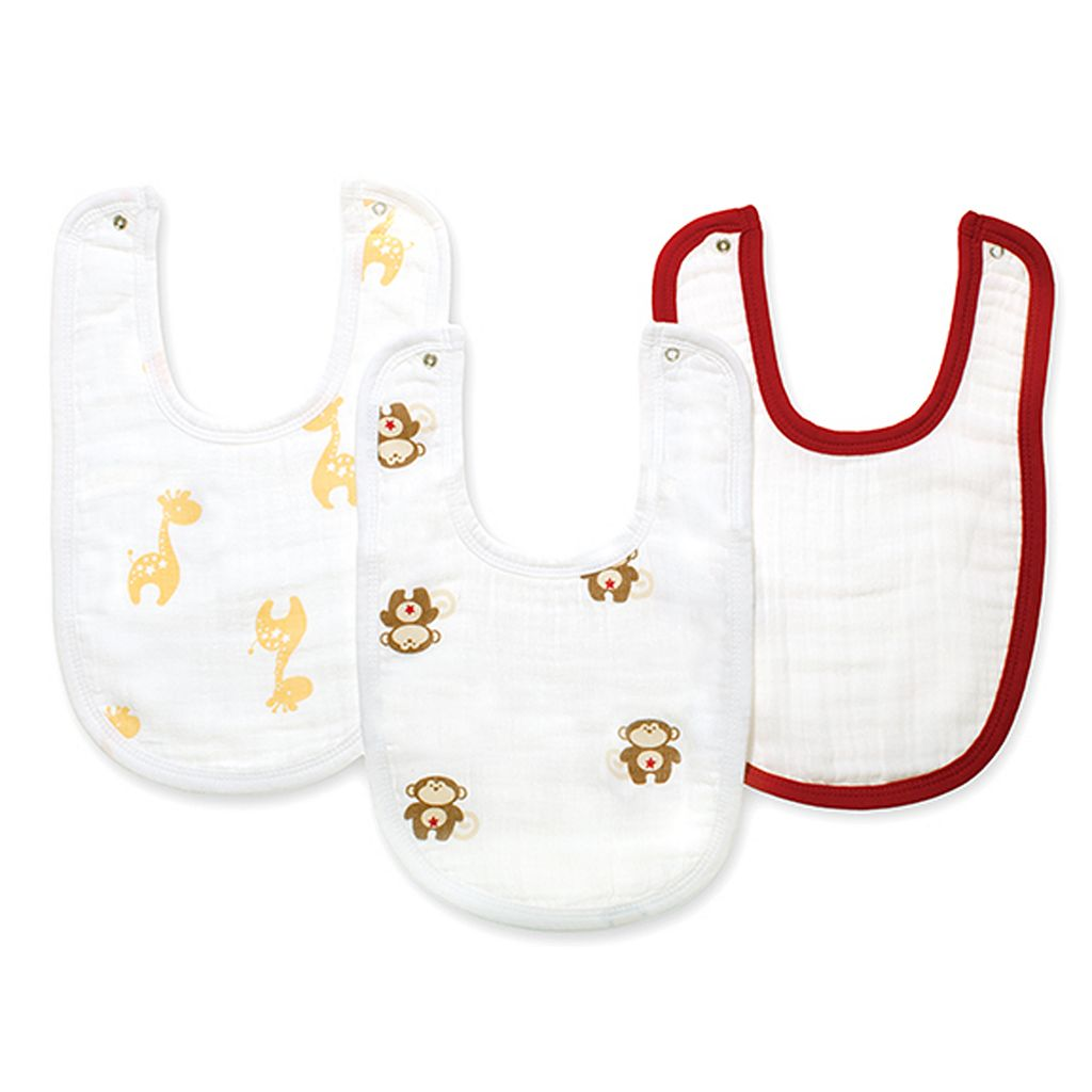 aden + anais 3-pk. Safari Friends Muslin Bibs