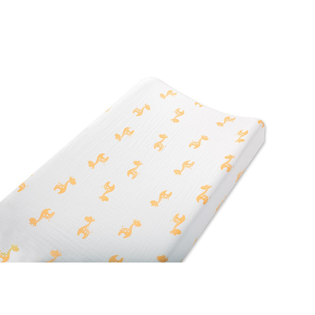 aden + anais Safari Friends Muslin Changing Pad Cover