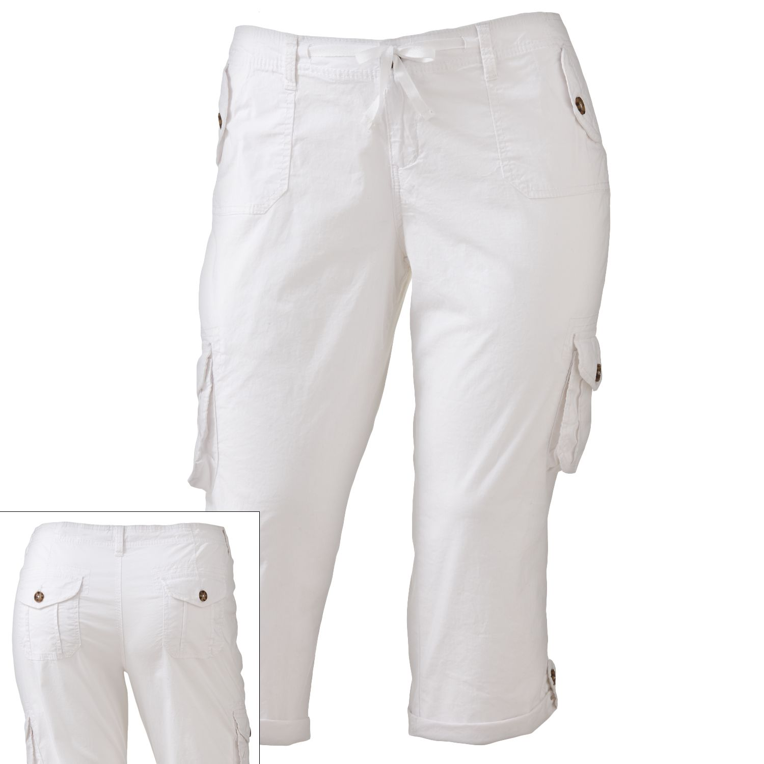 So Poplin Cargo Capris - Juniors' Plus - $12.00
