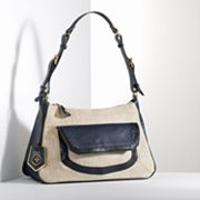 Simply Vera Vera Wang Kelly Snakeskin and Linen Hobo