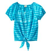 Mudd Tie-Dye Peasant Top - Girls Plus