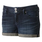 Candie's Cuffed High-Waist Denim Shortie Shorts - Juniors