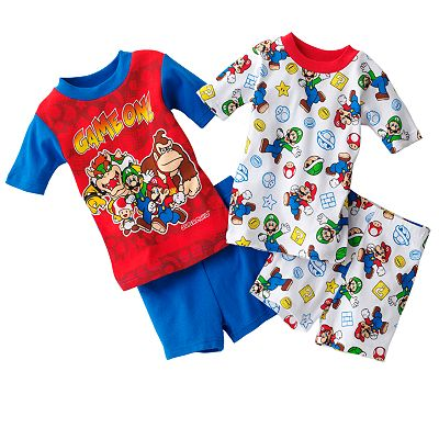 Super Mario Game Play 4-pc. Pajama Set - Boys 4-12