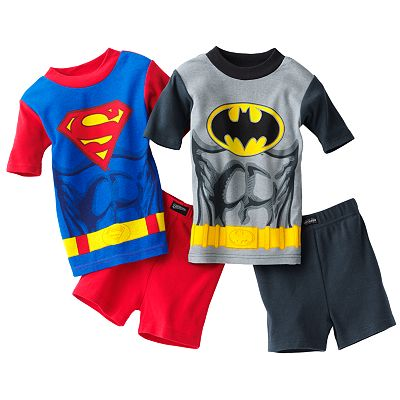 Batman and Superman 4-pc. Pajama Set - Boys 4-8