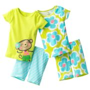 Carter's Monkey Pajama Set - Girls
