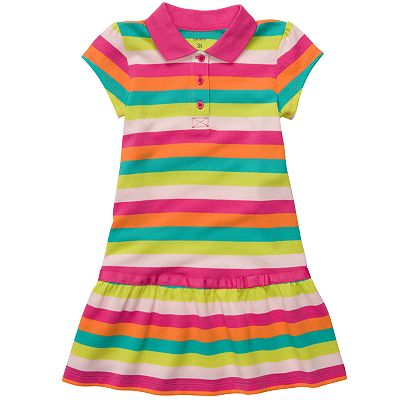 Carter's Striped Polo Dress - Toddler