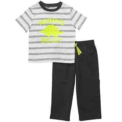 Carter's Mommy's Big Guy Striped Top and Pants Set - Toddler