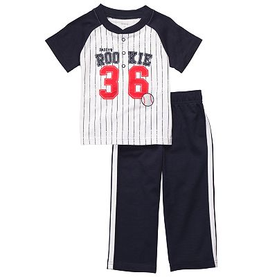 Carter's Daddy's Rookie Striped Top and Pants Set - Toddler