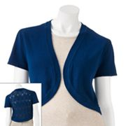 Takeout Openwork Bolero Sweater - Juniors