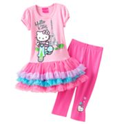 Hello Kitty Eiffel Tower Tutu Tunic and Capri Leggings Set - Girls 4-7