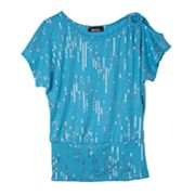 IZ Amy Byer Sequin Top - Girls 7-16