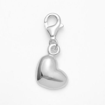 Personal Charm Sterling Silver Heart Charm