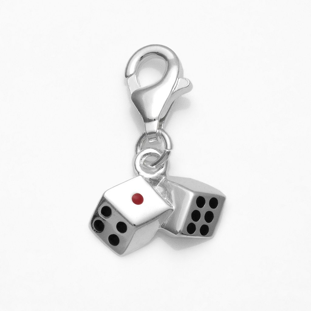 Personal Charm Sterling Silver Dice Charm