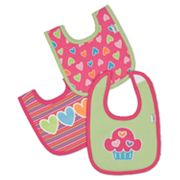 Lamaze 3-pk. Heart Interlock Bibs