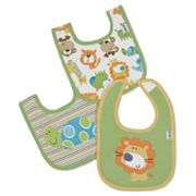 Lamaze 3-pk. Safari Interlock Bibs