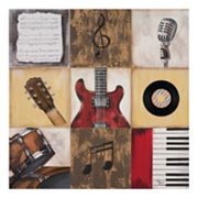 Rock the Music I Canvas Wall Art