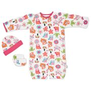 Lamaze 3-pc. Cat Convertible Coveralls Set - Baby