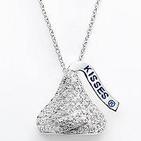 Sterling Silver 1/7 ctT.W. Diamond Hershey's Kiss Pendant