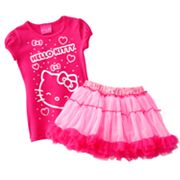 Hello Kitty Heart Top and Tutu Set - Girls 4-7