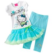 Hello Kitty Star Tutu Tunic and Leggings Set - Girls 4-7