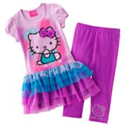Hello Kitty Tie-Dye Tutu Tunic and Leggings Set - Girls 4-7