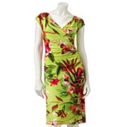 Ronni Nicole Floral Surplice Faux-Wrap Dress