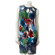 Ronni Nicole Floral Cutout Sheath Dress