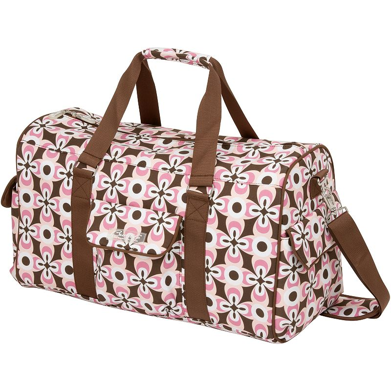The Bumble Collection Jennifer Weekender Diaper Bag, Pink