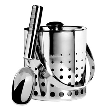 Mikasa Cheers Stainless Steel Ice Bucket & Scoop