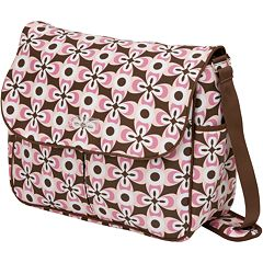 The Bumble Collection Michelle Courier Diaper Bag - Floral Geo