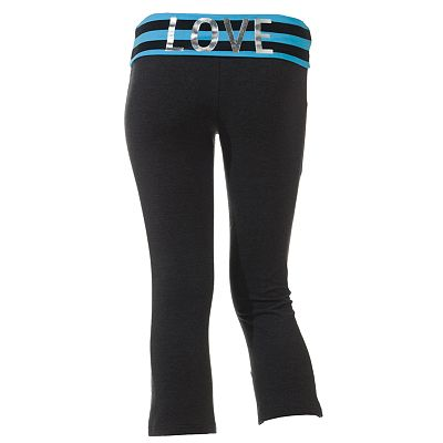 SO Fold-Over Lounge Capris - Juniors'