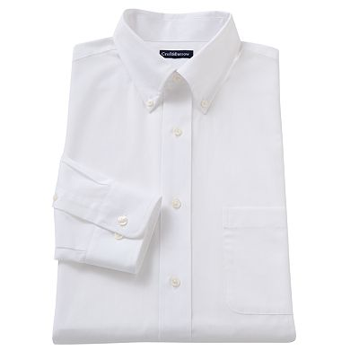 Croft and Barrow Classic-Fit Patterned Poplin Button-Down Collar Dress Shirt