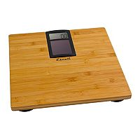 Escali Solar-Powered Bamboo Bathroom Scale