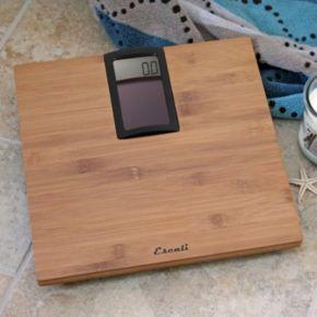 Escali Solar-Powered Bamboo Bathroom Scale
