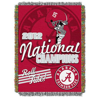 Alabama Crimson Tide 2012 BCS National Champions Jacquard Throw Blanket by Northwest