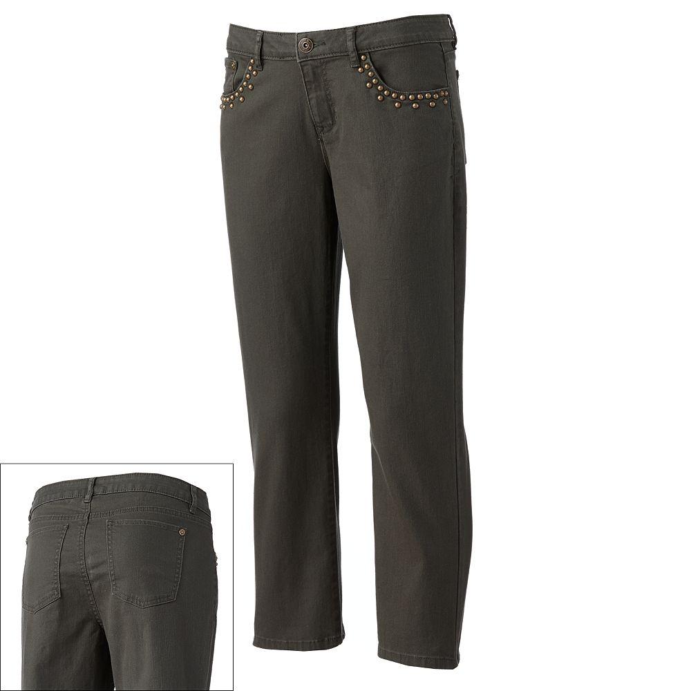 Apt. 9® Color Skinny Crop Jeans