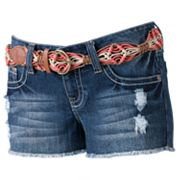Wallflower Frayed Shortie Shorts - Juniors