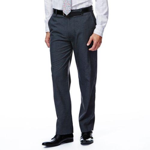 Haggar® 1926 Originals Straight-Fit Flat-Front Charcoal Houndstooth Suit Pants - Men