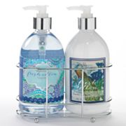 Lila Grace Fresh Cotton Hand Soap and Hand Lotion Caddy Gift Set