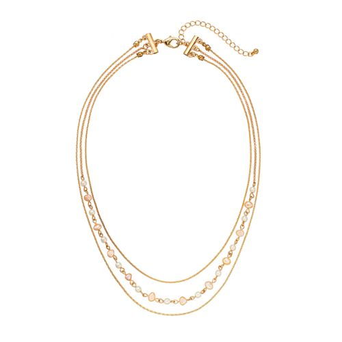 LC Lauren Conrad Freshwater Cultured Pearl Multistrand Necklace
