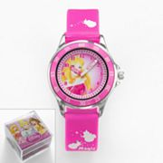 Disney Princess Aurora Silver Tone Time Teacher Watch - Kids