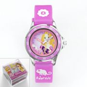 Disney Princess Rapunzel Silver Tone Time Teacher Watch - Kids